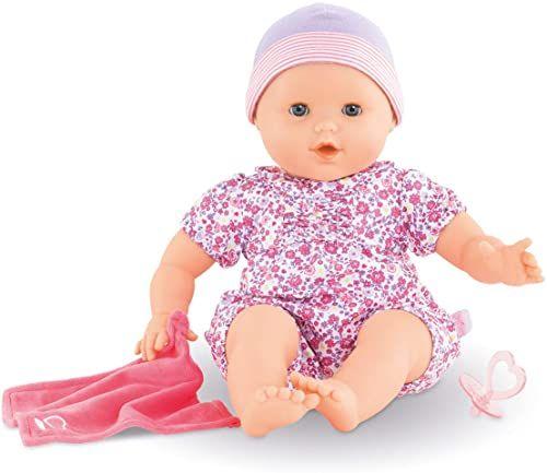 Corolle Mon Grand Poupon Emilie lutscht kciuk / lalka do miękkiego ciała z oczami do spania / może siedzieć / z smoczkiem i chusteczką / zapach waniliowy / 36 cm