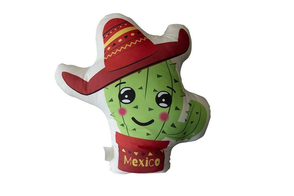 Poduszka przytulanka 40x40 D-104 Kaktus Kapelusz czerwony Mexico kształtka dekoracyjna
