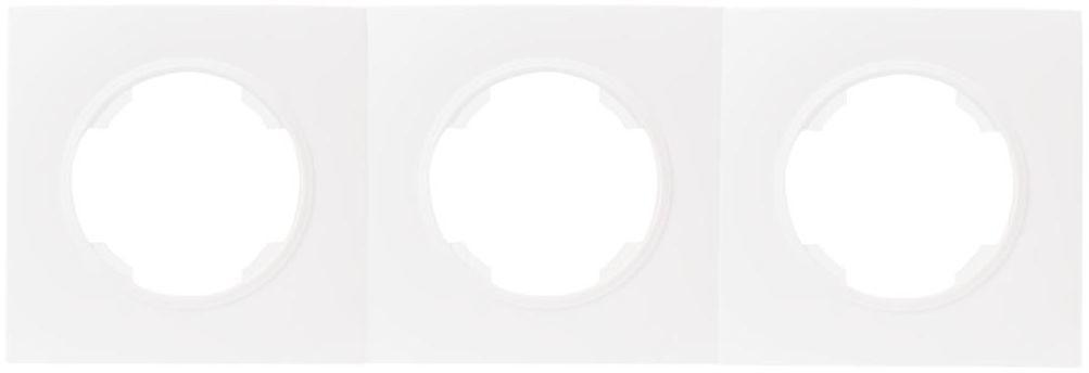 Ramka potrójna SOUL biały DMP SOLID