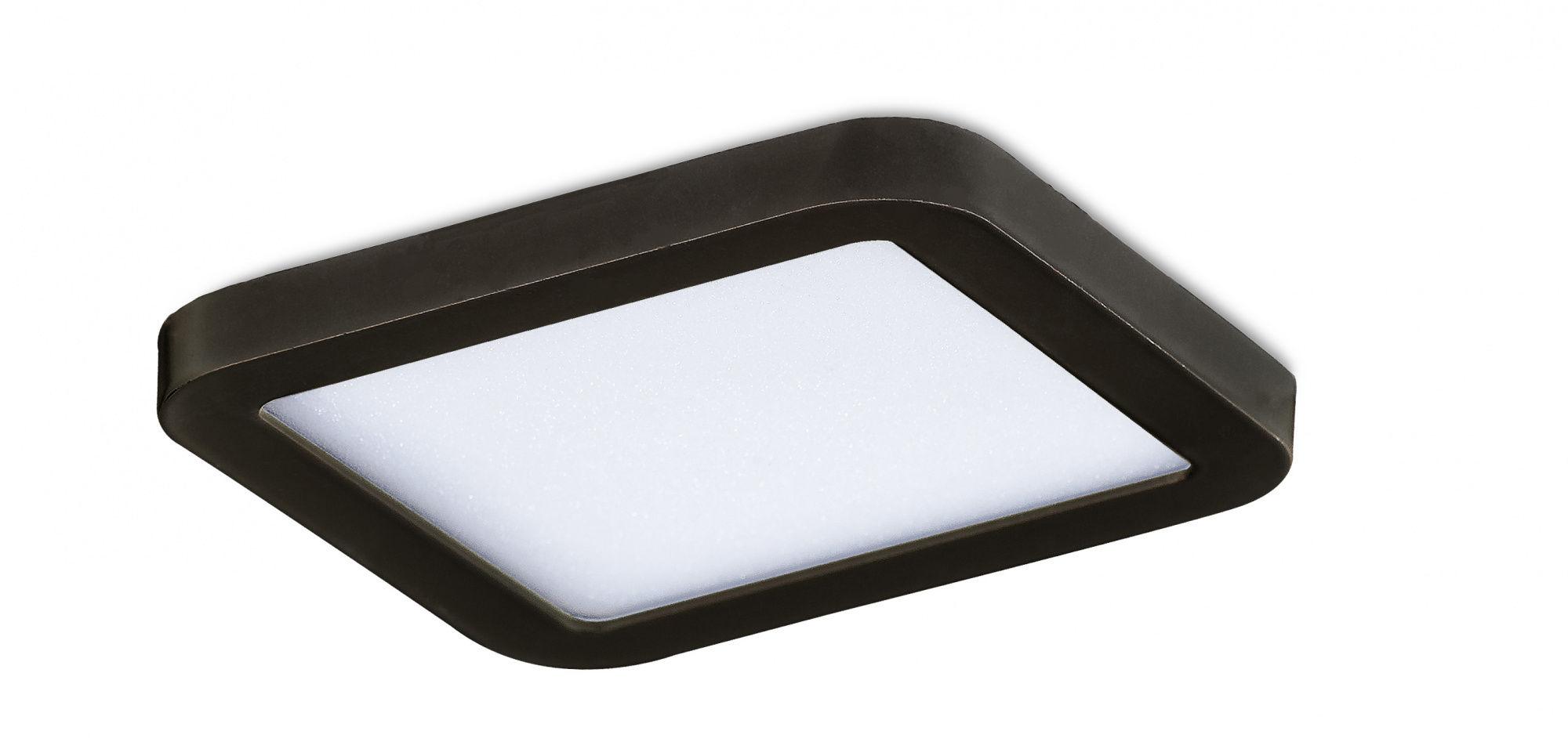 Plafon Slim square 9 AZ2833 AZzardo czarna oprawa w nowoczesnym stylu