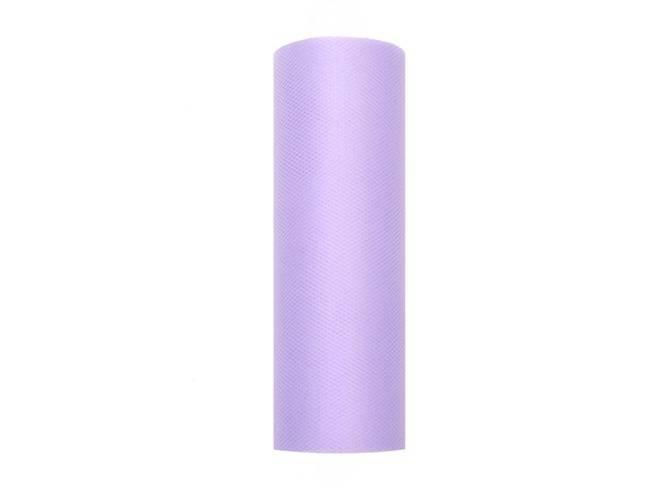 Tiul gładki liliowy - 15 cm x 9 metrów - 1 szt.