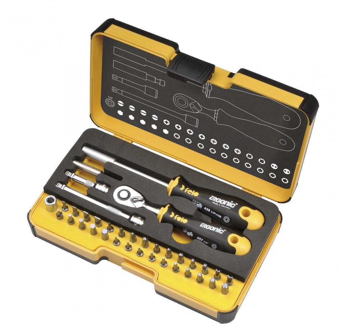 Zestaw kluczy nasadowych z grzechotką FELO 05783616 R-GO XL 36 szt.