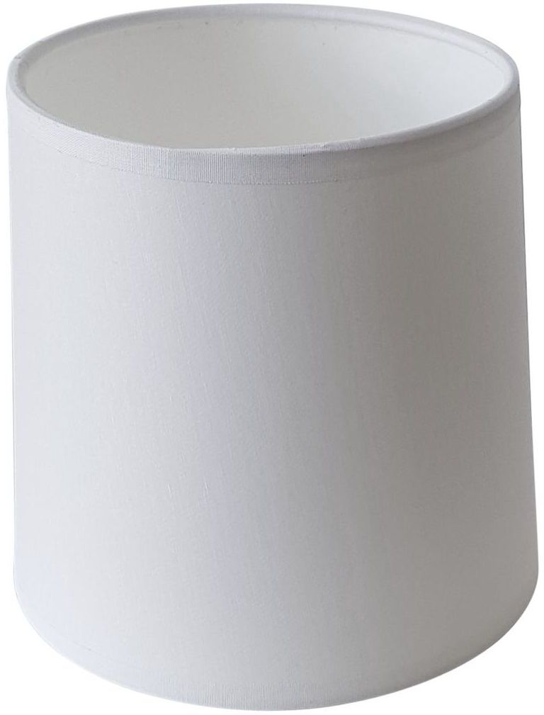 Abażur walec 20 x 16 cm tkanina biały E27 TK LIGHTING