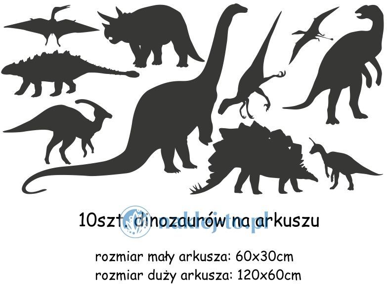 naklejki Dinozaury zestaw naklejka na ścianę zestaw
