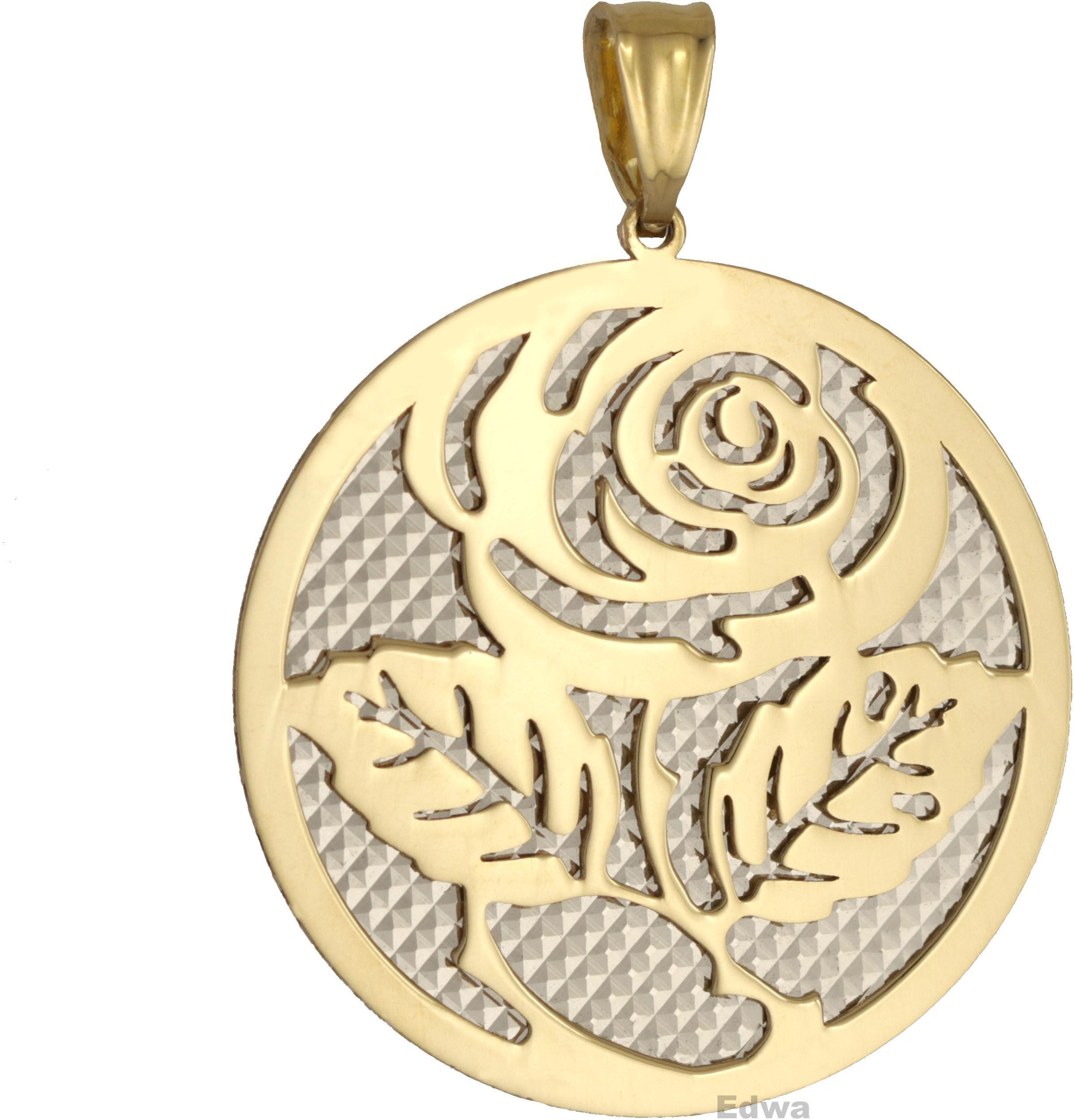 Zawieszka złota z Różą pr.585