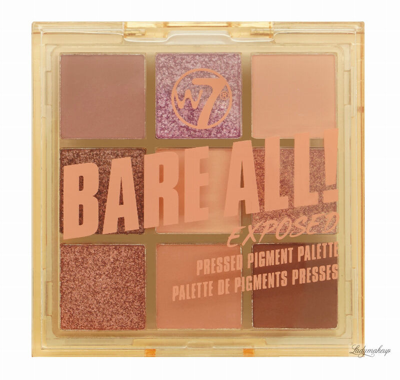 W7 - BARE ALL - PRESSED PIGMENT PALETTE - Paleta 9 cieni do powiek - EXPOSED