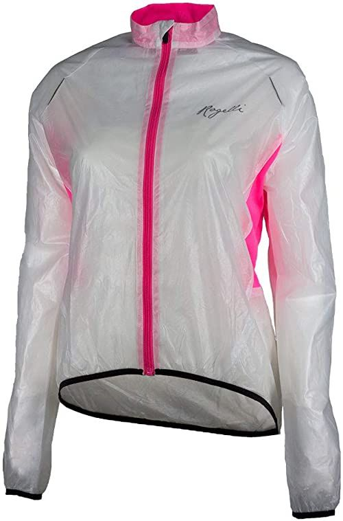 Rogelli Canelli damska kurtka przeciwdeszczowa, przezroczysta/różowa, XL