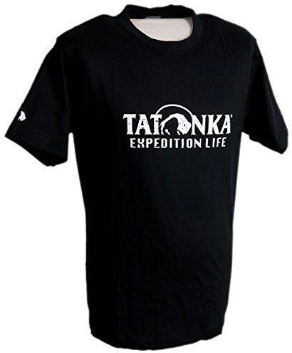 Tatonka męski t-shirt bawełniany znaczek, czarny, S, P064