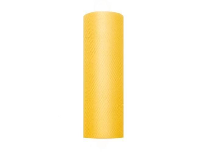 Tiul gładki żółty - 15 cm x 9 metrów - 1 szt.