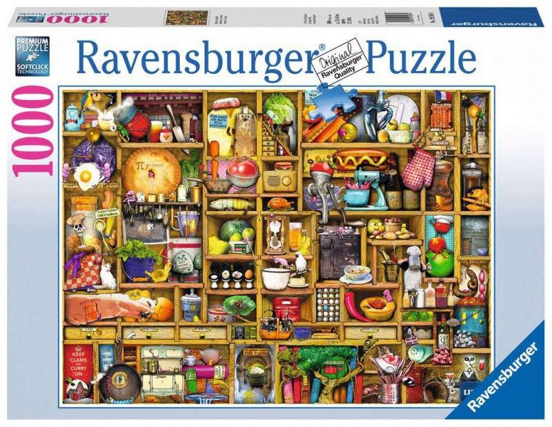Puzzle 1000 elementów Regał w kuchni (GXP-764288)