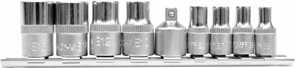 Klucze nasadowe torx e5 - e16, kpl. 9 szt. Yato YT-0520 - ZYSKAJ RABAT 30 ZŁ