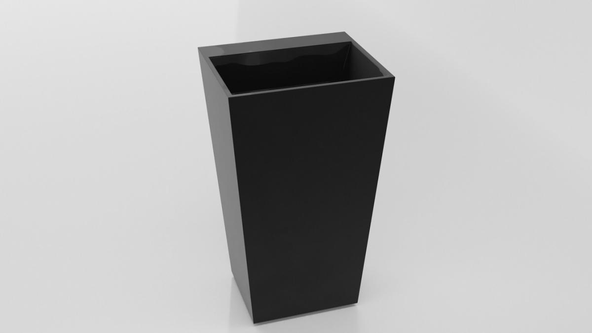 Besco Vera Black umywalka wolnostojąca 50x42x85cm czarny połysk #UMD-V-WOCZ