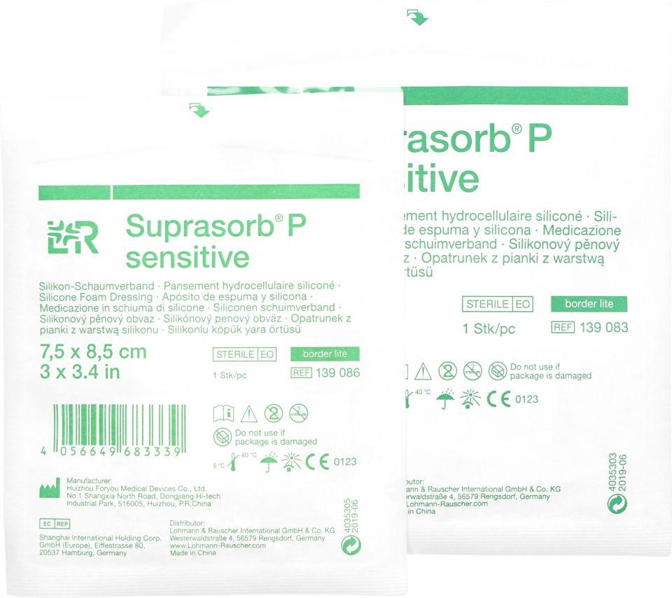 Opatrunek z pianki silikonowej Suprasorb P sensitive [border lite] (LR)
