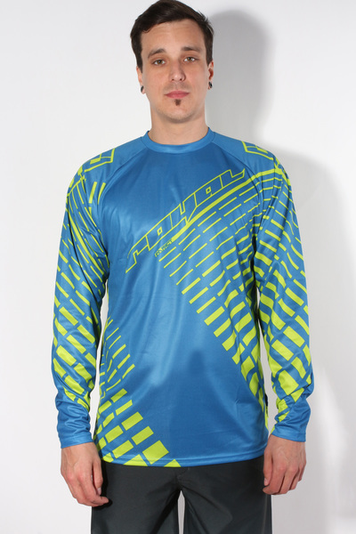 Royal JERSEY LS LIME Navy/Lime shirt rower - S