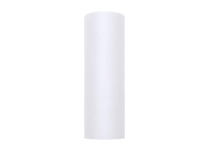 Tiul gładki biały - 15 cm x 9 metrów - 1 szt.