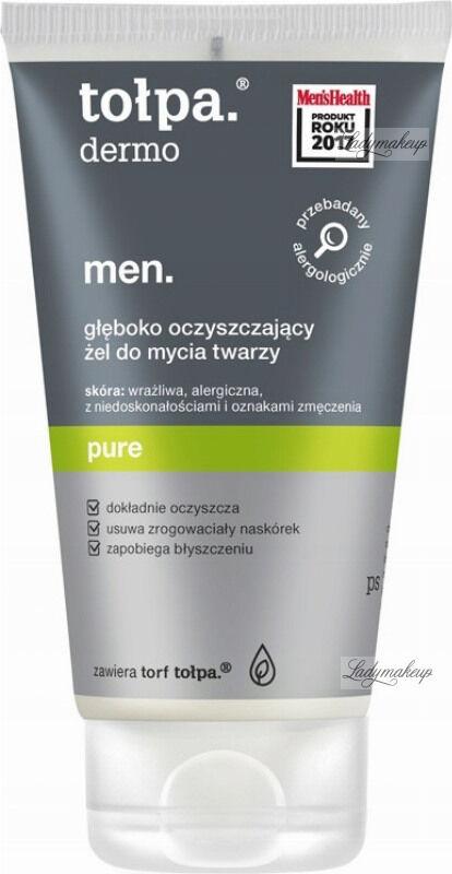 Tołpa - Dermo Men Pure - Głęboko oczyszczający żel do mycia twarzy dla mężczyzn - 150 ml