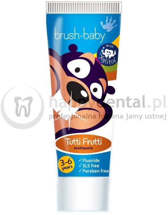 BRUSH-BABY Tutti-Frutti 50ml - pasta do zębów dla dzieci od 3 do 6 lat o smaku owoców