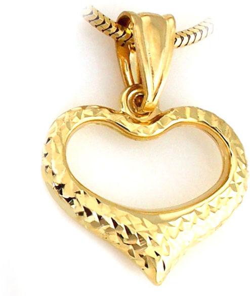 Złota przywieszka 333 ramka serca serduszko 8kt