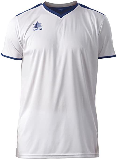 Luanvi Męski T-shirt Match z krótkimi rękawami. biały Weiß (0001) S