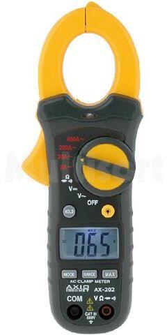 Cyfrowy miernik cęgowy; O:30mm; LCD (2000); Próbkowanie:2x/s
