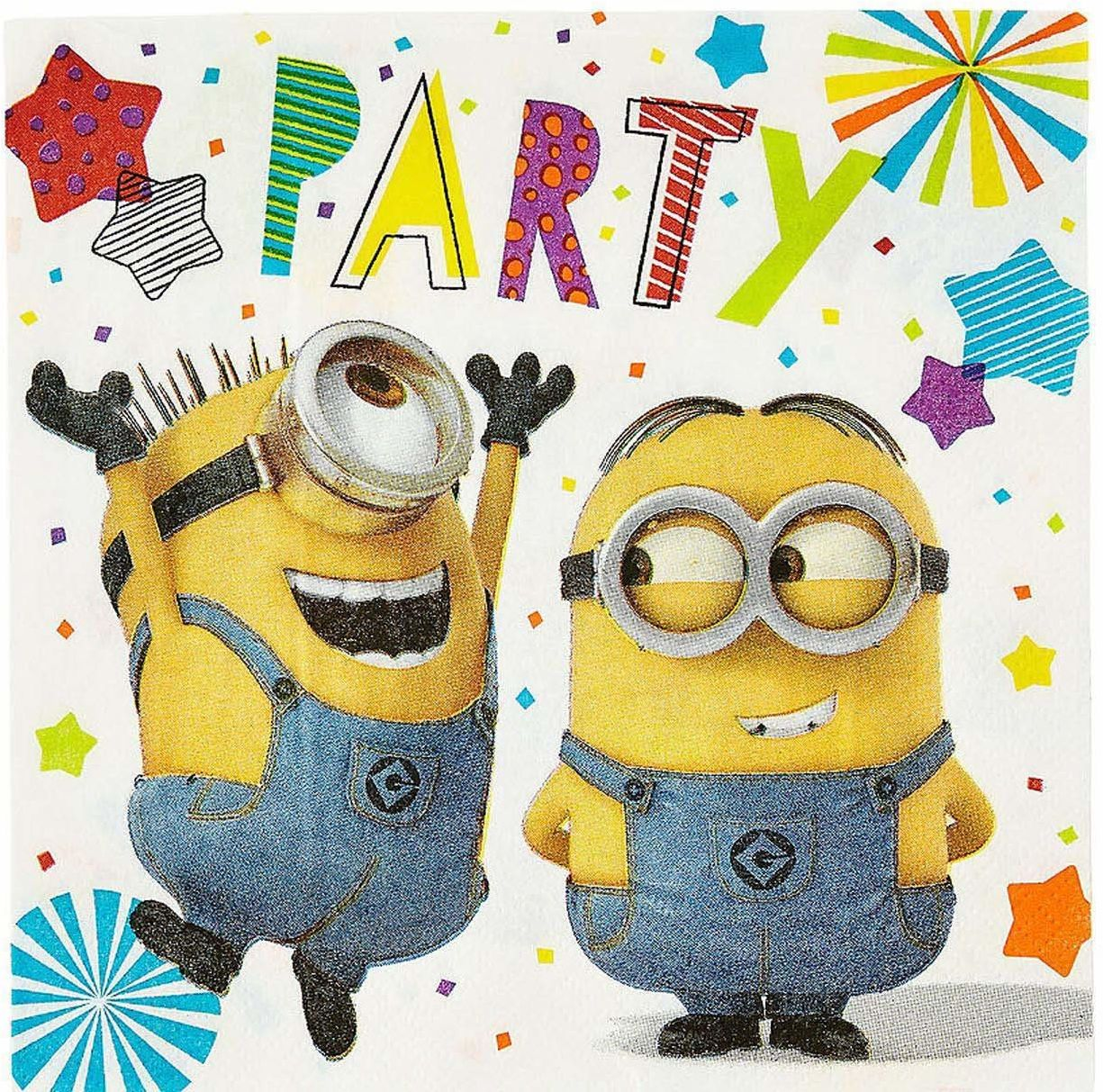 Amscan 9907314 Despicable Me Minion Party serwetki