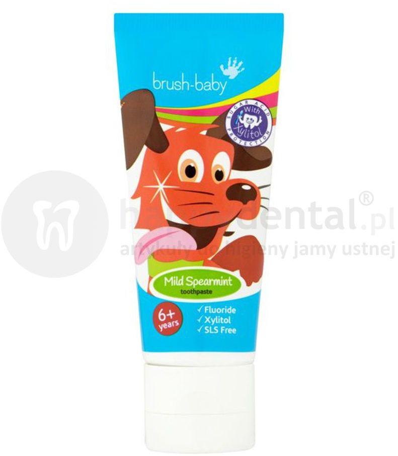 BRUSH-BABY Mild Spearmint 50ml- pasta do zębów dla dzieci powyżej 6 roku życia o smaku świeżej mięty