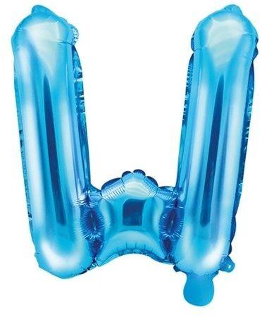 Balon foliowy W niebieski 35cm 1szt FB2M-W-001