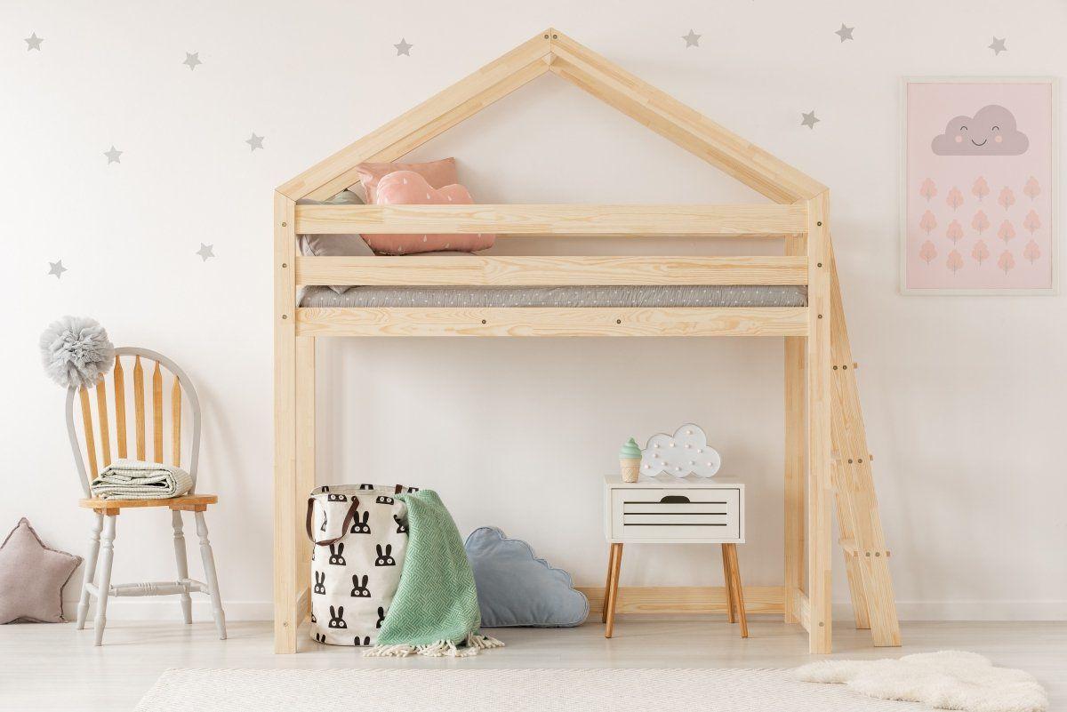 Łóżko piętrowe MILA DMPBA 90x190 sosna piętrowe drewniane  KUP TERAZ - OTRZYMAJ RABAT