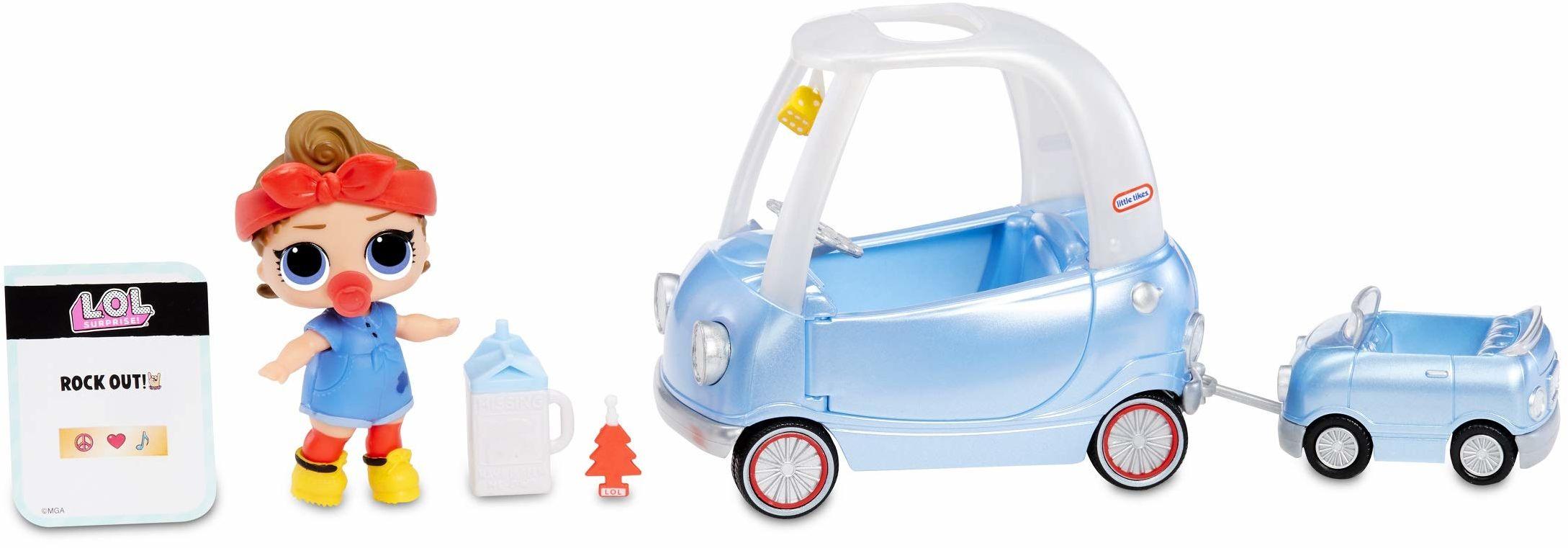 L.O.L. Surprise! 564928E7C Furniture  mebel dla lalek i figurka kolekcjonerska z akcesoriami Road-Trip z Can Do Baby, 10 niespodzianek