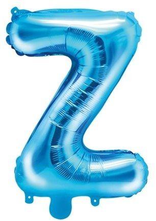 Balon foliowy Z niebieski 35cm 1szt FB2M-Z-001