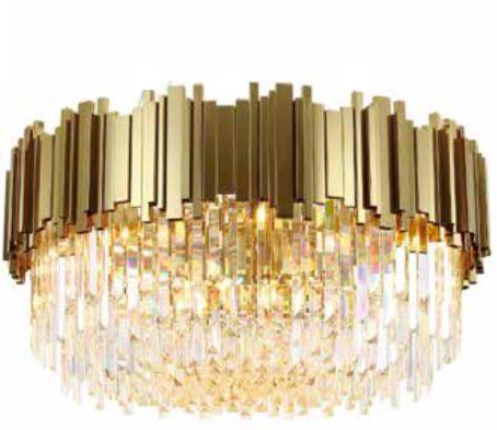 Pipe Organ Crystal BRASS - plafon kryształowy 45cm