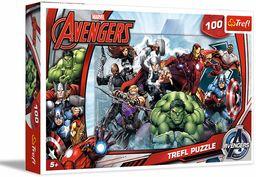 Trefl Do Ataku Puzzle 100 Elementów Marvel o Wysokiej Jakości Nadruku dla Dzieci od 5 lat