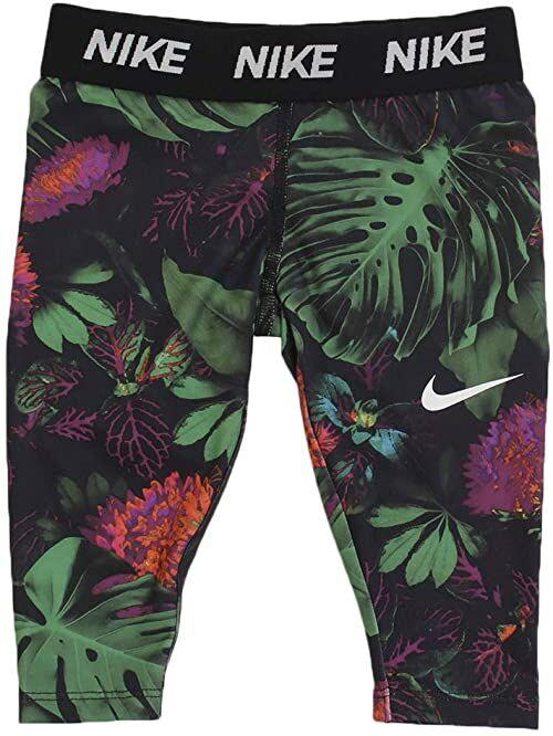 Nike Unisex dziecięce legginsy Dri-fit Glow Botanical Allover Print czarny czarny 116