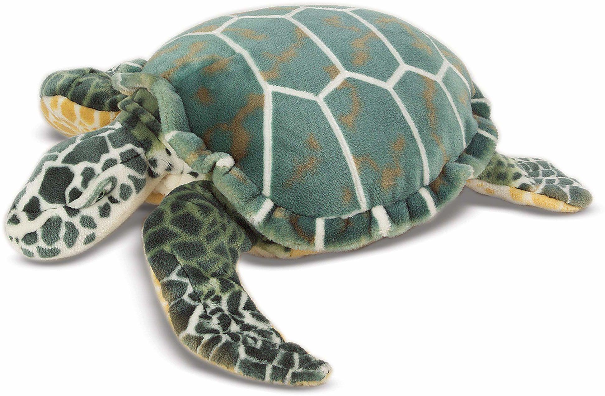 Melissa & Doug Żółw morski - pluszowy Miękka zabawka Zwierzę W każdym wieku Prezent dla chłopców lub dziewcząt