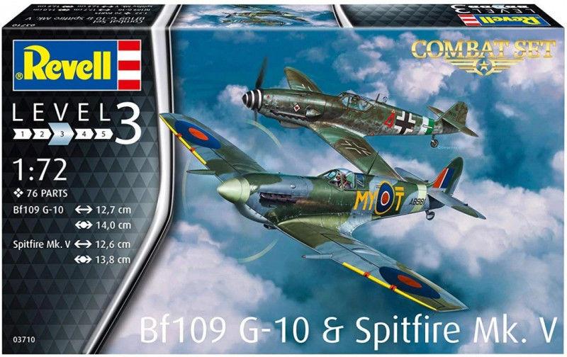 Zestaw do sklejania BF109G-10 & Spitfire MK.V