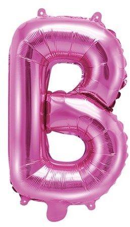 Balon foliowy B ciemny różowy 35cm 1szt FB2M-B-006