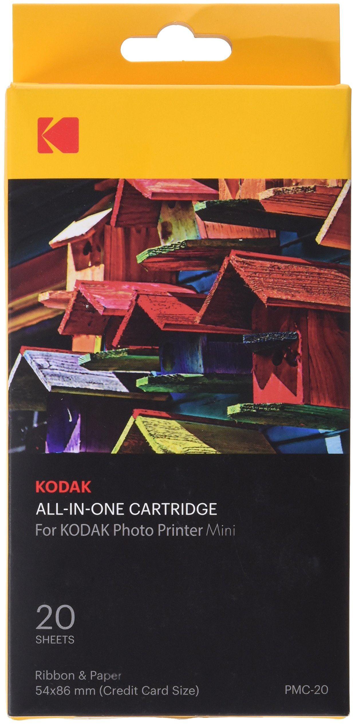 Kodak - Mini kartridż do drukarki fotograficznej PMC, ALLES-IN-EINEM papier i atrament kolorowy - 20 arkuszy
