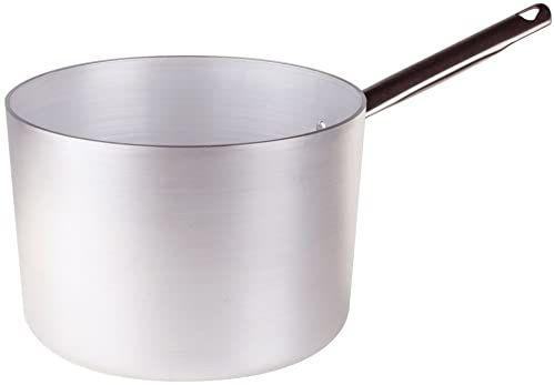 Pentole Agnelli Linia aluminium 3 mm bardzo garnek do duszenia z 1 uchwytem 28 cm srebrny/czarny