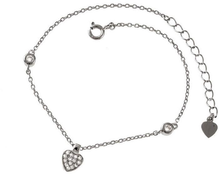 Srebrna bransoletka 925 z zawieszką serce 1,8g