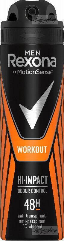 Rexona - Men - Workout Hi-Impact 48H Anti-Perspirant - Antyperspirant w areozolu dla mężczyzn - 150 ml