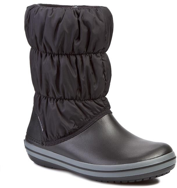 Śniegowce CROCS - Winter Puff 14614 Black/Charcoal