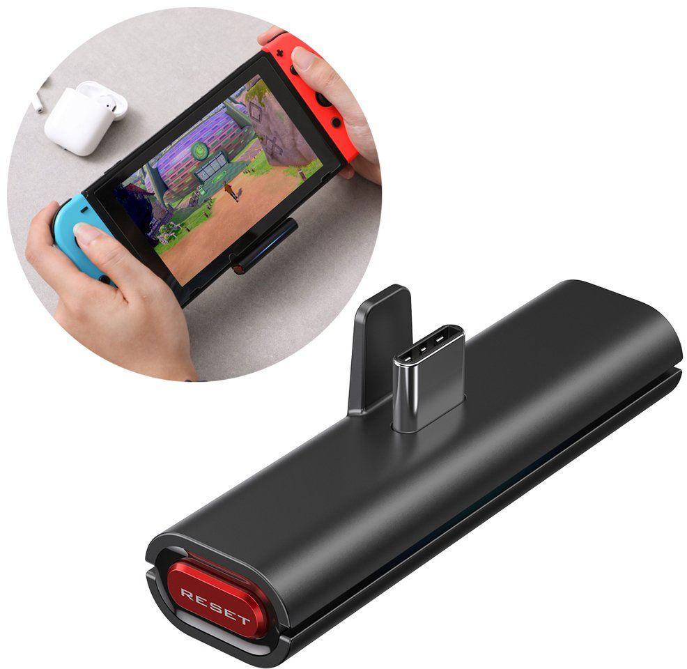 Baseus GAMO BA05 transmiter Bluetooth USB Typ C do konsoli Nintendo Switch czarny (NGBA05-01)