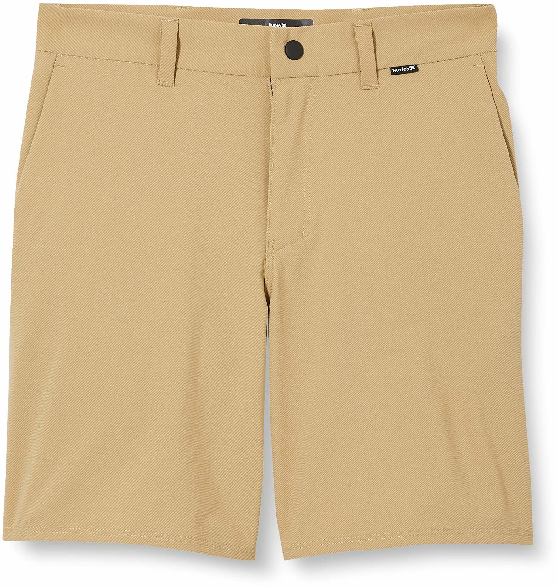 Hurley Chłopięce B Dri-fit krótkie krótkie spodnie typu chino 40 cm Khaki 26