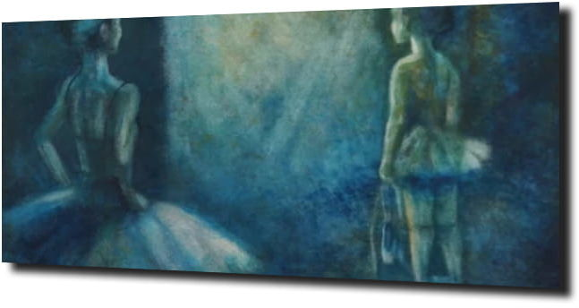 obraz na szkle Baletnice
