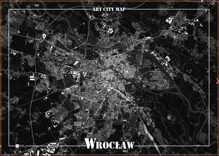 Plakat dekoracyjny - Wrocław - Art-Map