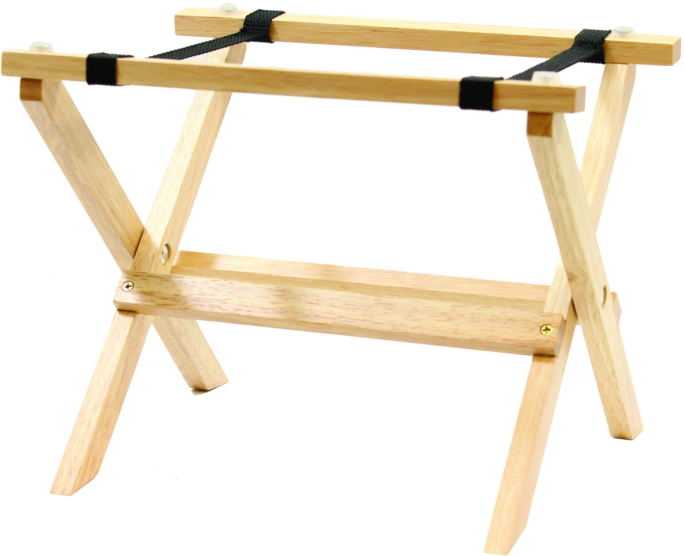 Stolik stołowy z podstawką na stół mini, drewno, naturalny, 30 x 6 x 23,5 cm