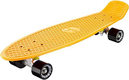 Ridge Skateboards Unisex''s Ridge 27-Organics Range Big Brother Board-Wyprodukowano w Wielkiej Brytanii-68 cm x 19 cm deskorolka, ciemnożółty/czarny, cale