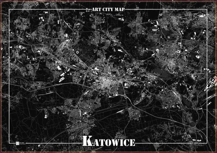 Plakat dekoracyjny - Katowice - Art-Map