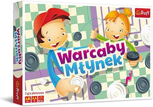 Trefl 01622 Gra, Warcaby, Młynek Ilustrowany, 01622