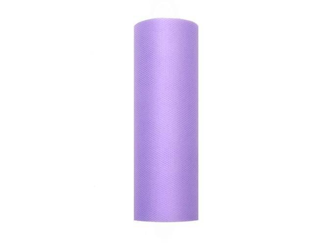 Tiul gładki fioletowy - 15 cm x 9 metrów - 1 szt.